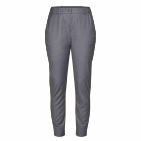Slim Fit Trousers with Elasticated Ankle