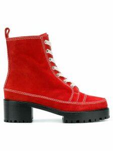 Nicole Saldaña Chris 2.0 boots - Red