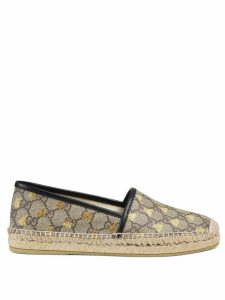 Gucci GG Supreme bees espadrille - Brown