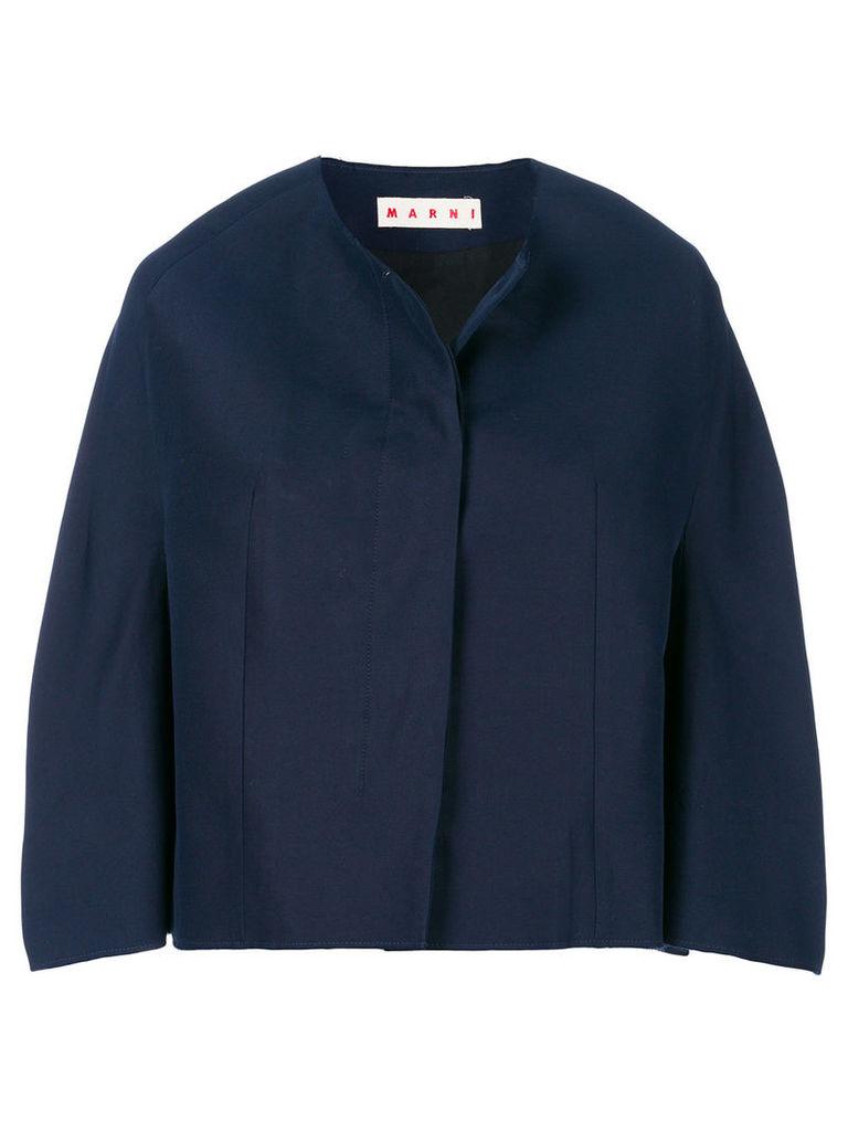 Marni cropped jacket - Blue