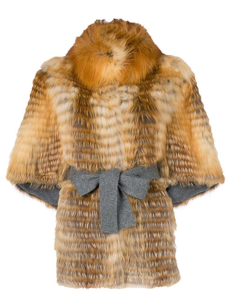 Liska fox fur jacket - Brown