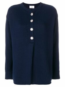 Allude buttoned sweater - Blue