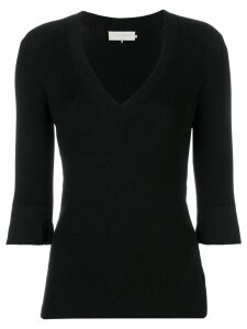 L'Autre Chose V-neck fitted sweater - Black