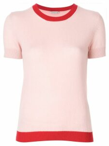 Moncler cashmere contrast trim knitted top - PINK