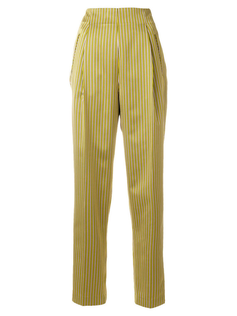 Etro striped tapered trousers - Yellow & Orange