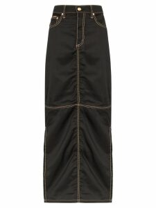 Eytys contrast stitch maxi skirt - Black