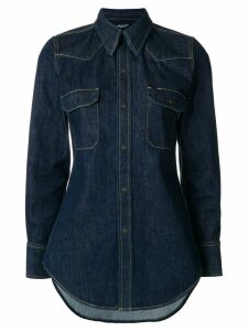 Calvin Klein 205W39nyc fitted denim shirt - Blue