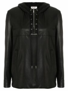 Saint Laurent biker long-sleeve shirt - Black