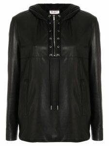 Saint Laurent biker long-sleeve shirt - Black