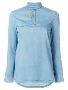 Mr & Mrs Italy banded collar shirt - Blue