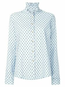 Macgraw polka dot high neck shirt - Blue