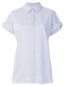 Victoria Victoria Beckham layered shortsleeved striped shirt - Blue