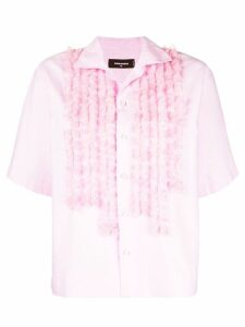 Dsquared2 ruffle-trimmed shirt - PINK