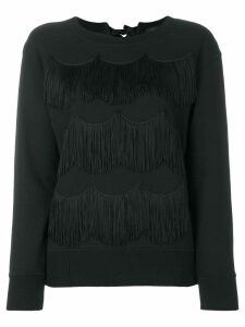 Marc Jacobs fringed sweatshirt - Black