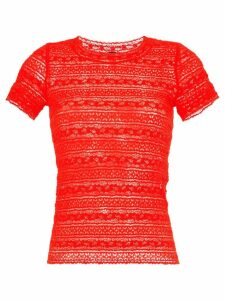 Marc Cain embroidered fitted T-shirt
