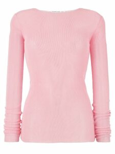 Helmut Lang drop needle woven top - PINK