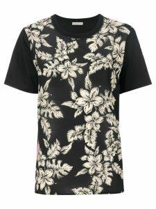 Moncler floral print T-shirt - Black