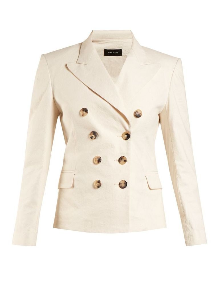 Jerena peak-lapel blazer