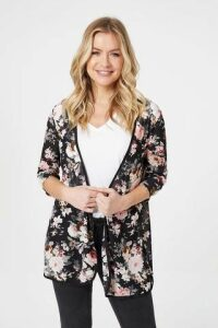 Floral Piped Cardigan