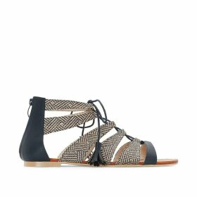 Two-Tone Sandals, Wide Fit