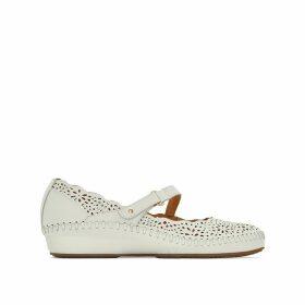P. Vallarta 655 Leather Wedge Sandals