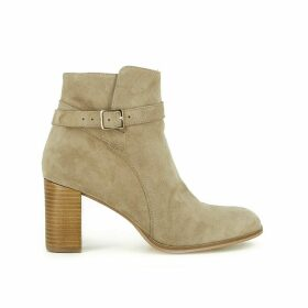 Akil Leather Heeled Boots with Zip
