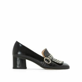 Victoire Leather Block Heels