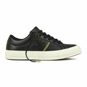 One Star Piping Leather Trainers