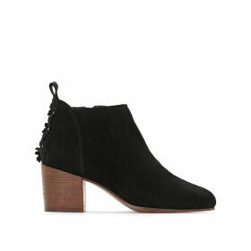 Candy Bootie Heeled Suede Leather Ankle Boots