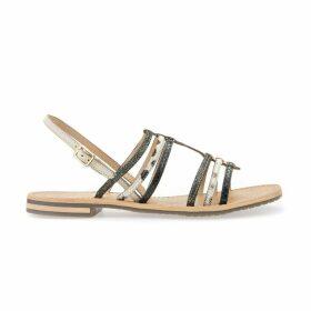 Sosy H Leather Flat Sandals