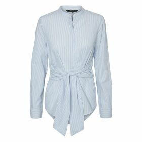 Tie-Waist Cotton Shirt