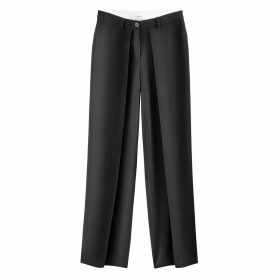 Loose Fit Wide Leg Trousers, Length 31.5