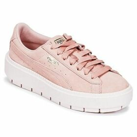 Puma  SUEDE PLATFORM TRACE W'S  women's Shoes (Trainers) in Pink