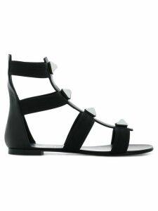 Giuseppe Zanotti ankle gladiator studded sandals - Black