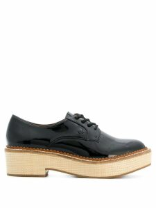 Emporio Armani lace-up block sole shoes - Black