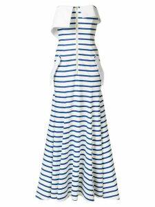 Natasha Zinko striped jersey bandeau gown - White