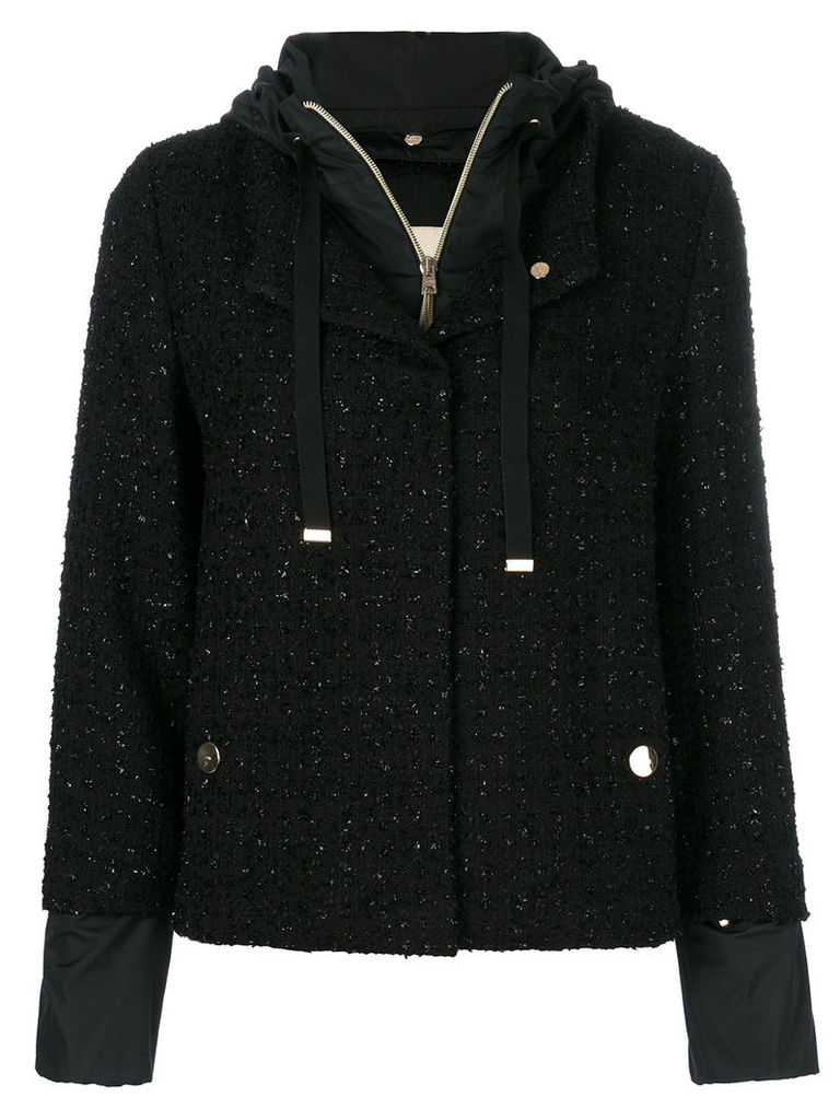 Herno layered woven jacket - Black