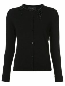 Simone Rocha embellished neck cardigan - Black