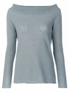 Fabiana Filippi boat neck jumper - Blue
