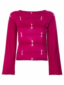 Suzusan flared sleeves jumper - Pink