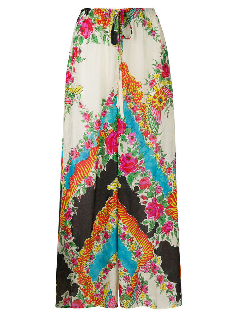 Gucci patterned palazzo trousers - Multicolour