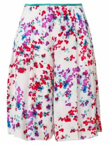 Emporio Armani floral print knee length shorts - White