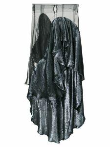 Paula Knorr panelled draped skirt - Black