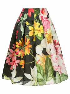 Bambah lotus midi skirt - Black