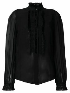 Roberto Cavalli pleated sheer blouse - Black