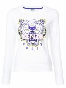Kenzo embroidered Tiger sweatshirt - White