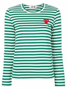 Comme Des Garçons Play striped longlseeved T-shirt - Green
