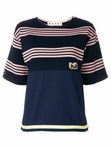 Marni striped design T-shirt - Blue