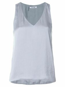 Styland satin v-neck tank top - Grey