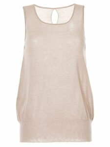 Uma Wang back keyhole tank top - Brown